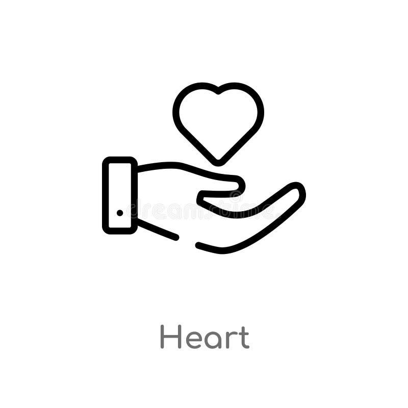 概述心脏传染媒介象 E r 向量例证