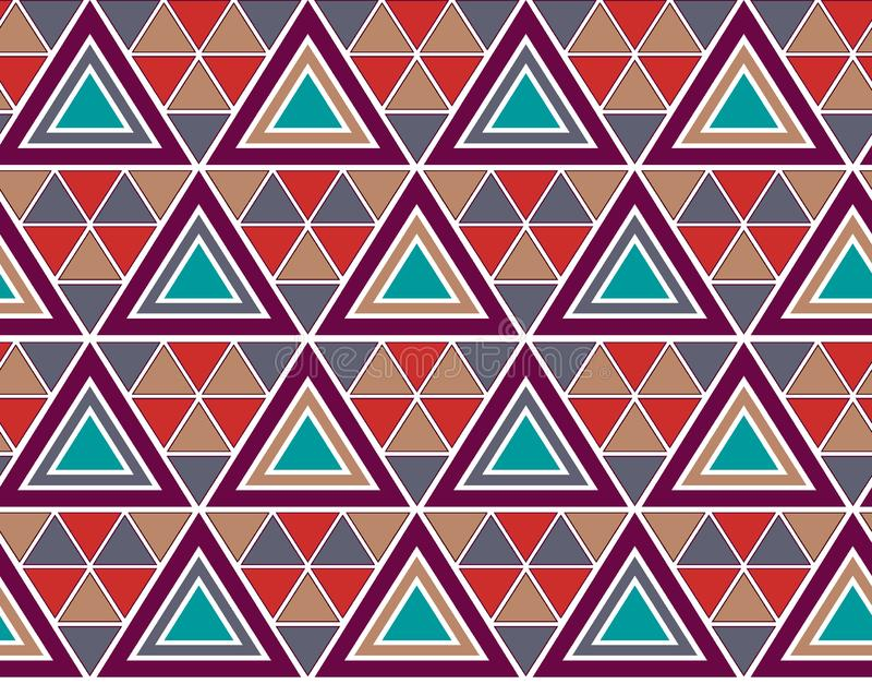 Άνευ ραφής ζωηρόχρωμο γεωμετρικό σχέδιο διανυσματική απεικόνιση