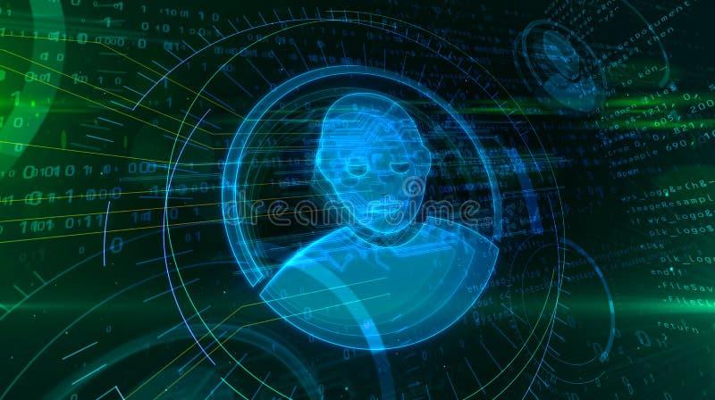 Уединение в виртуальном пространстве иллюстрация вектора