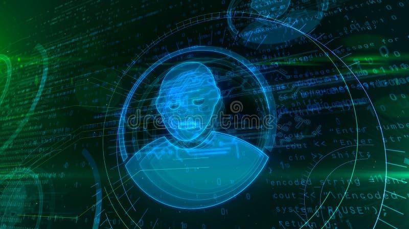 Уединение в виртуальном пространстве бесплатная иллюстрация