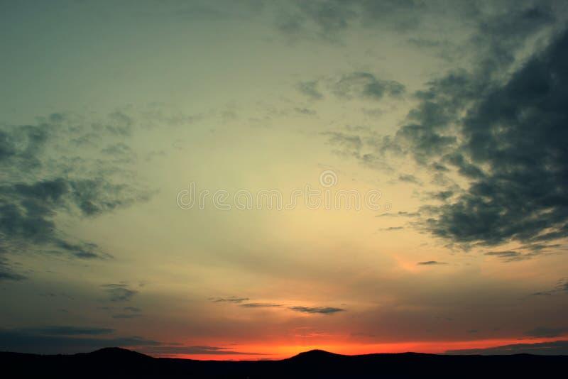 太阳的最后光芒 库存照片