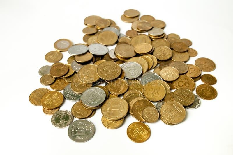 Предпосылка золотых монеток стоковое фото