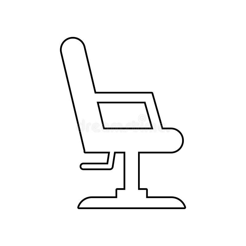 办公室椅子象 E r 向量例证