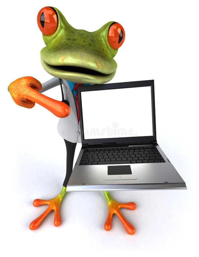 Download E ilustracji. Ilustracja złożonej z zwierzę, kumak, komputer - 53793249