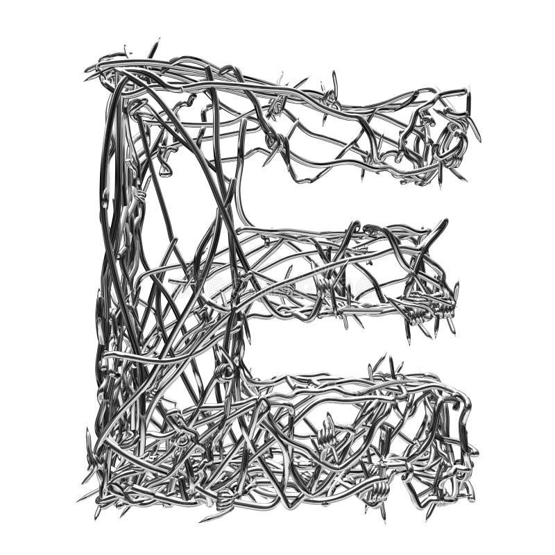 E vector illustration
