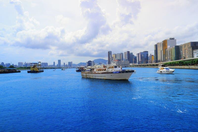 день kwun tong пирса , hk стоковая фотография rf
