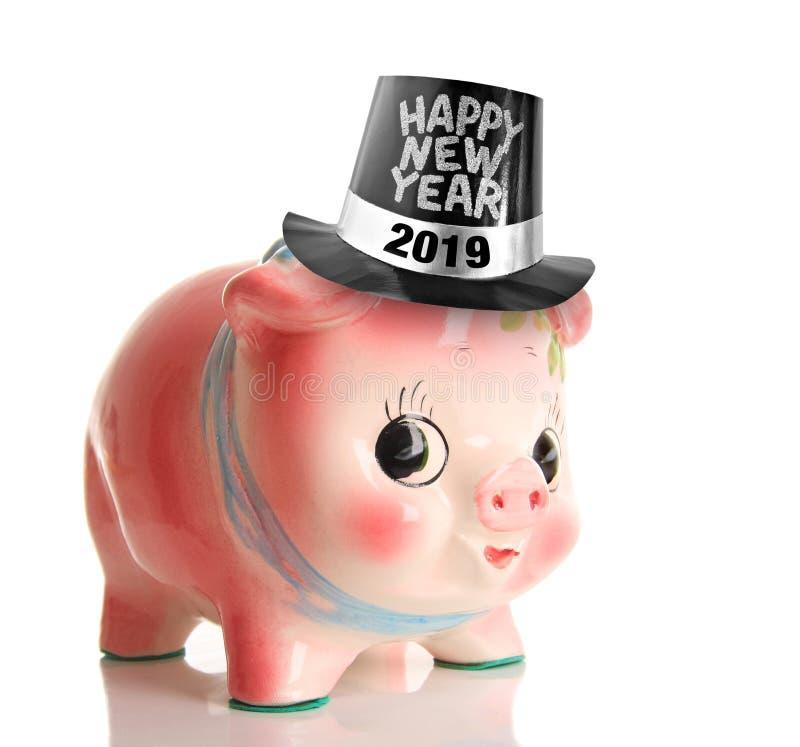 E Año del concepto del cerdo imagen de archivo