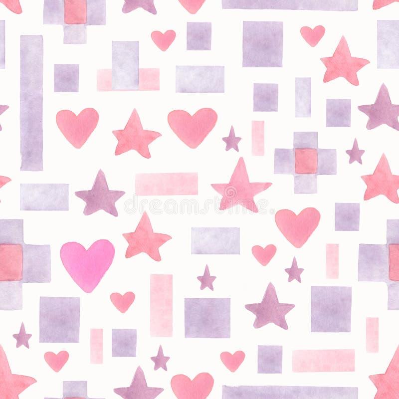 E abstrakt geometriskt stock illustrationer