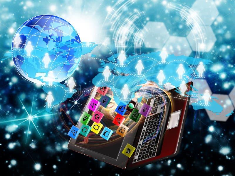 E-affär. Internet stock illustrationer