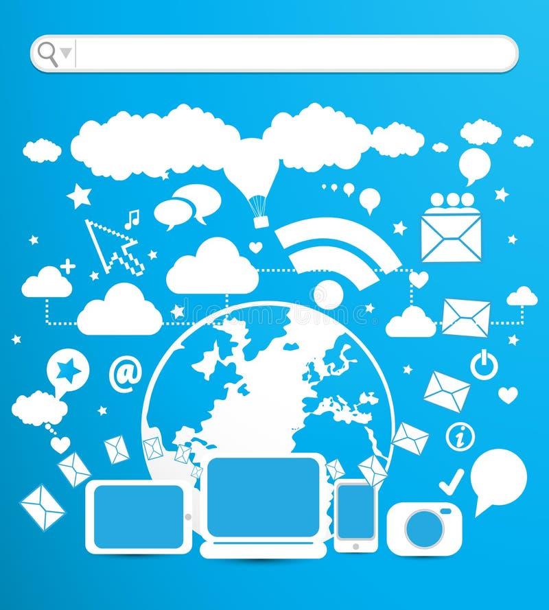 E-affär teknologi vektor illustrationer