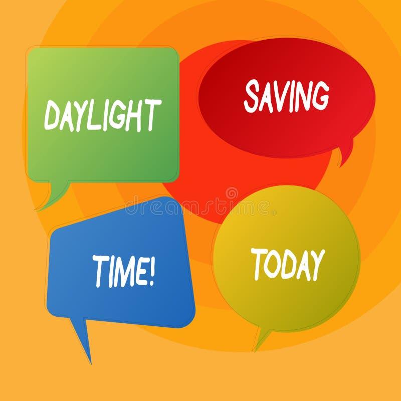 E Affärsfoto som ställer ut flyttande fram klockor under sommar för att spara stock illustrationer