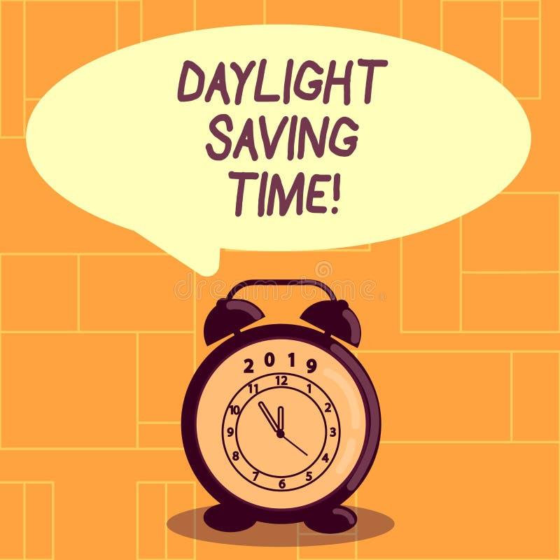 E Affärsfoto som ställer ut flyttande fram klockor under sommar för att spara royaltyfri illustrationer