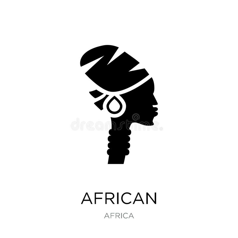E Afrikaans die pictogram op witte achtergrond wordt geïsoleerd r royalty-vrije illustratie