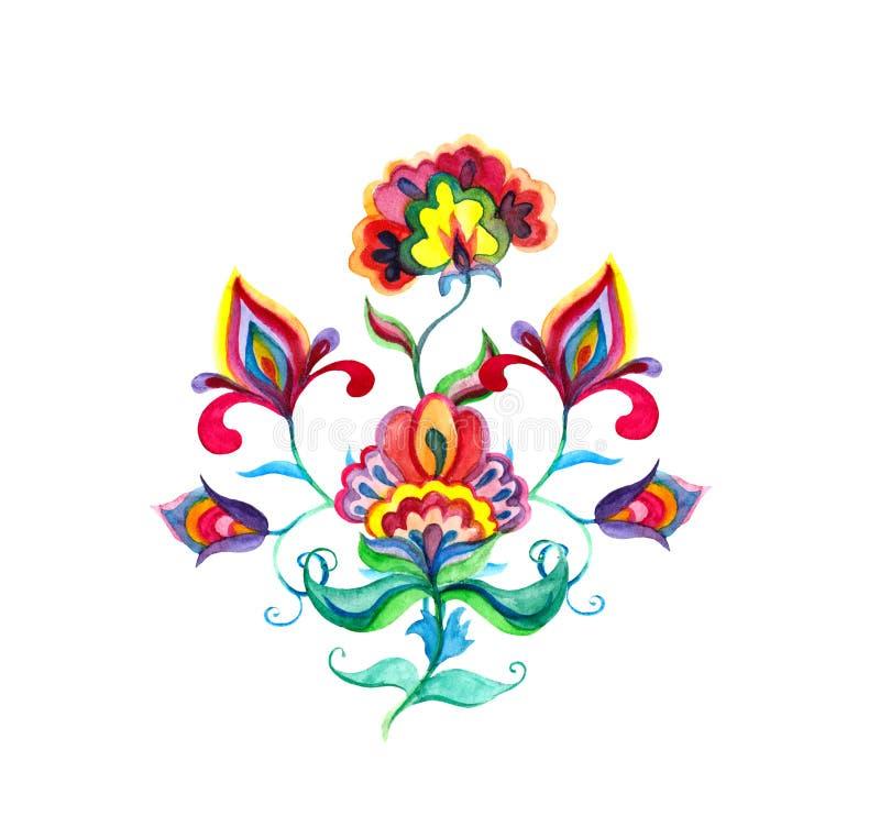 E Akwarela ornament zdjęcie royalty free