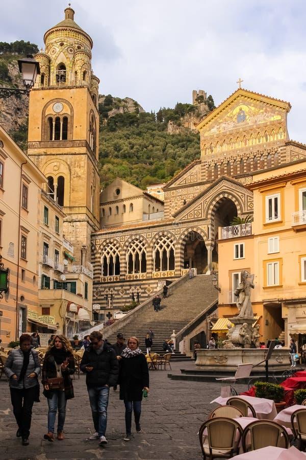 E Amalfi l'Italie photos stock