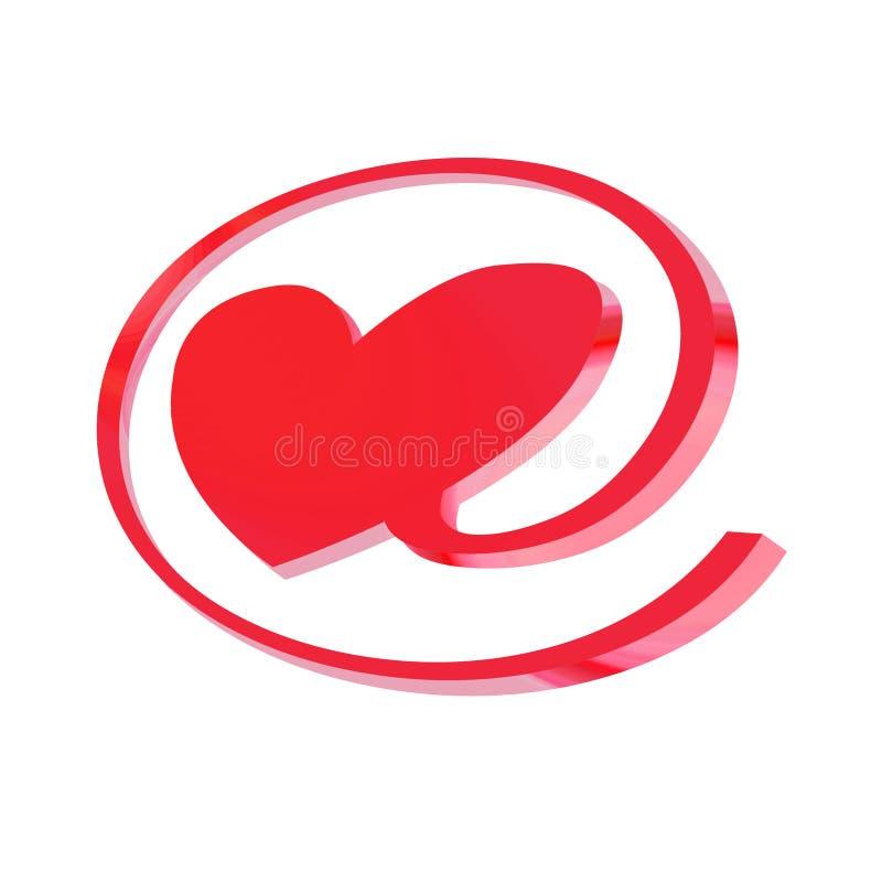 E-amore illustrazione di stock