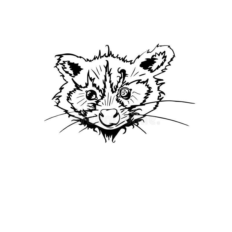 E Animale sveglio del fumetto Carattere divertente Vettore Rebecca 36 r illustrazione vettoriale
