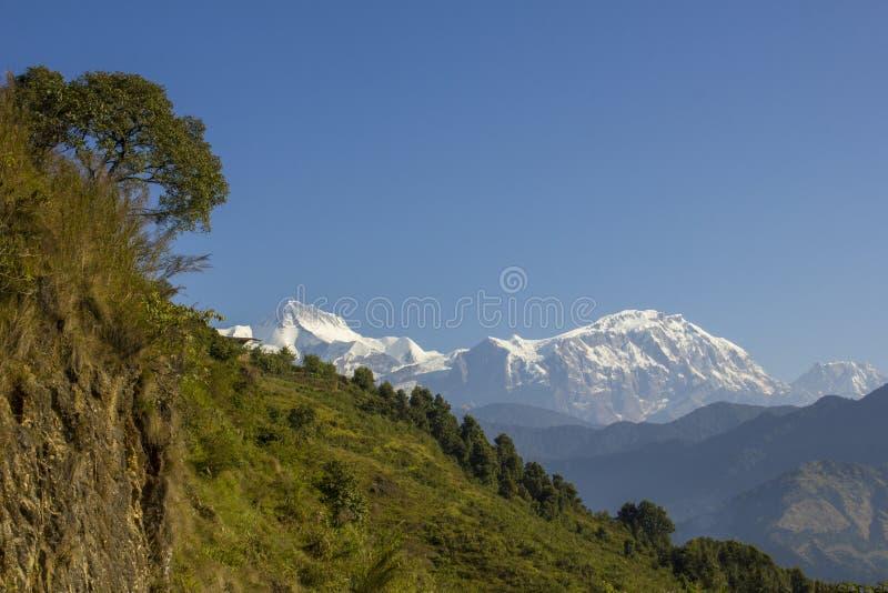 E Annapurna Nepal fotografia de stock
