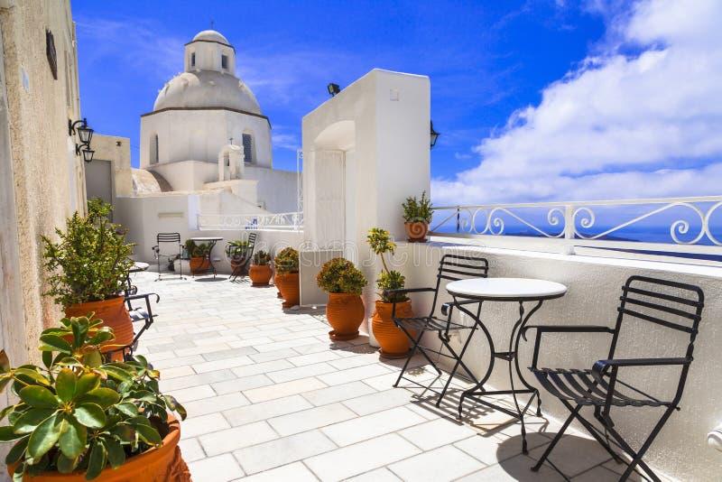 E arquitetura tradicional, Grécia, Cyclades foto de stock royalty free