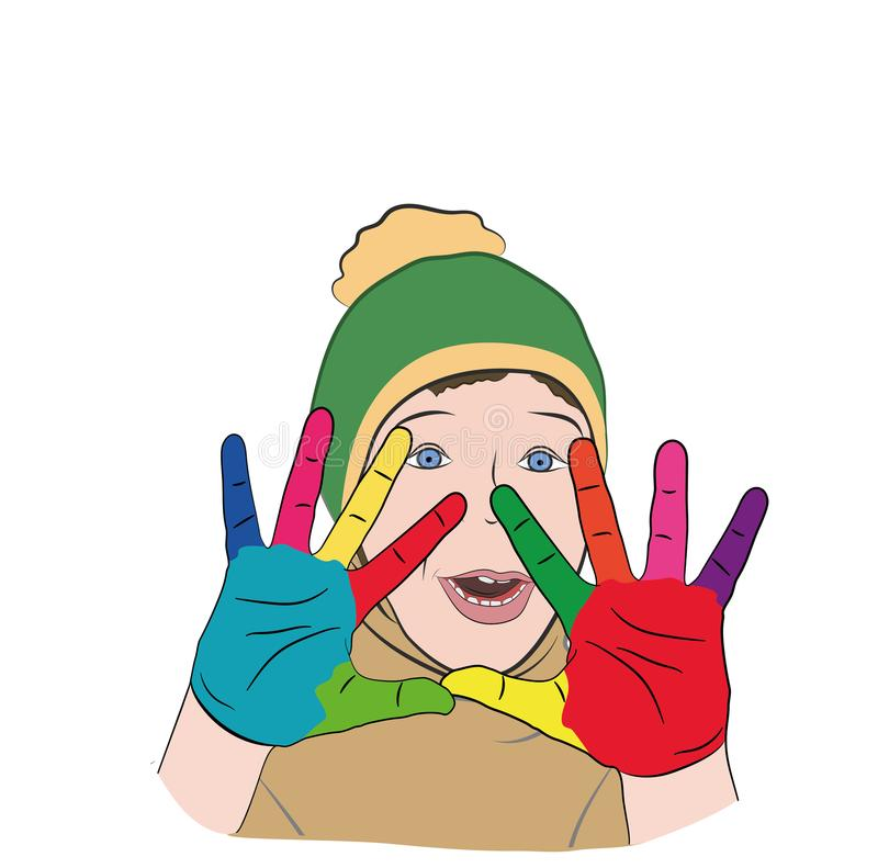 E autism r Illustrazione di vettore illustrazione di stock