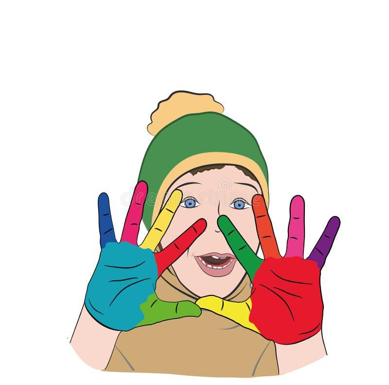 E autism r Ilustração do vetor ilustração stock