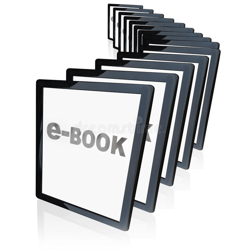 E-Bücher Tablette-Leser-neue Technologie lizenzfreie abbildung