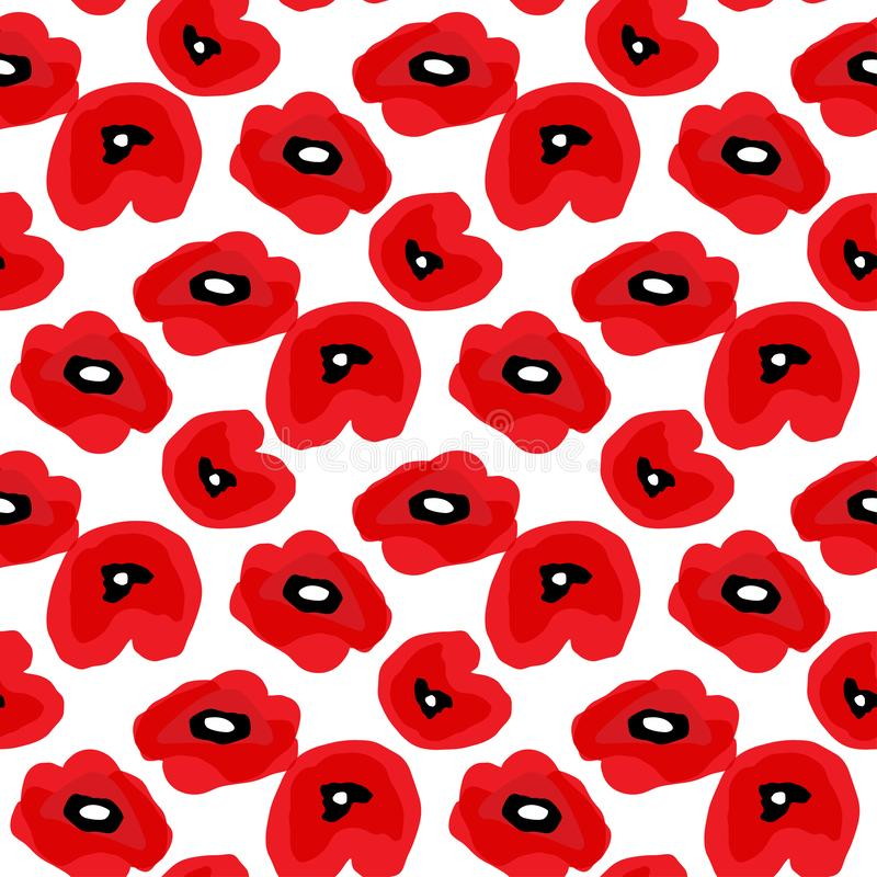 E background poppies red white E r ελεύθερη απεικόνιση δικαιώματος