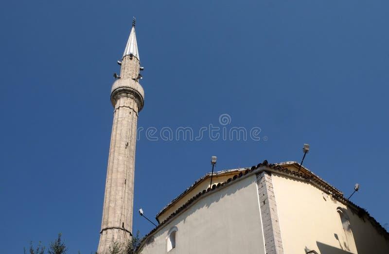 E bainha Bey Mosque do ` no quadrado de Skanderbeg, Tirana imagens de stock royalty free