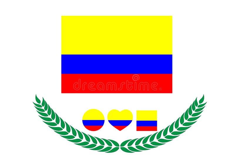 E Bandiera della Colombia I Paesi Bassi illustrazione vettoriale