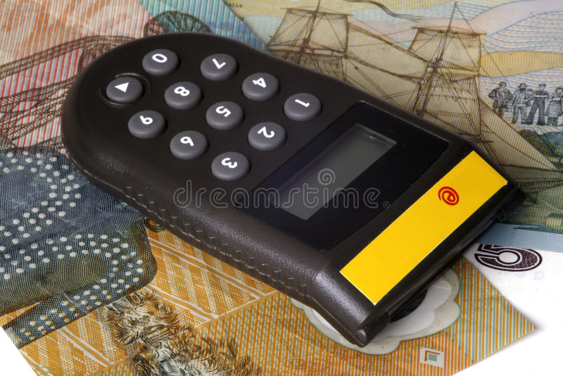 E-banking token. Electronic calculator for authorization of e-banking operations royalty free stock image