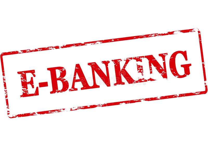 E bankwezen stock illustratie