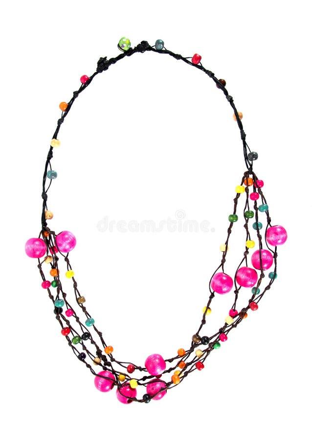 E beads halsbandet royaltyfri fotografi