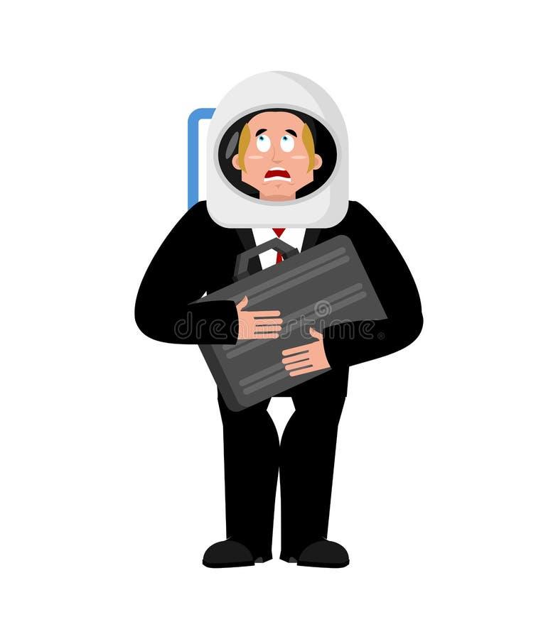 E Bedrijfsastronaut Chef- ruimtevaarder Vector vector illustratie
