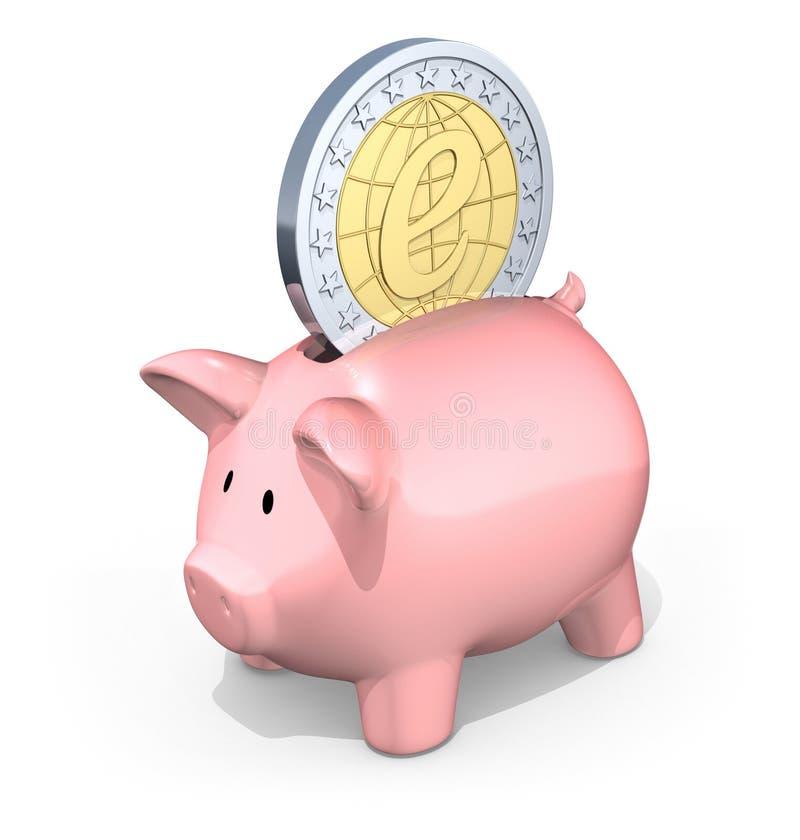 e-besparingar stock illustrationer
