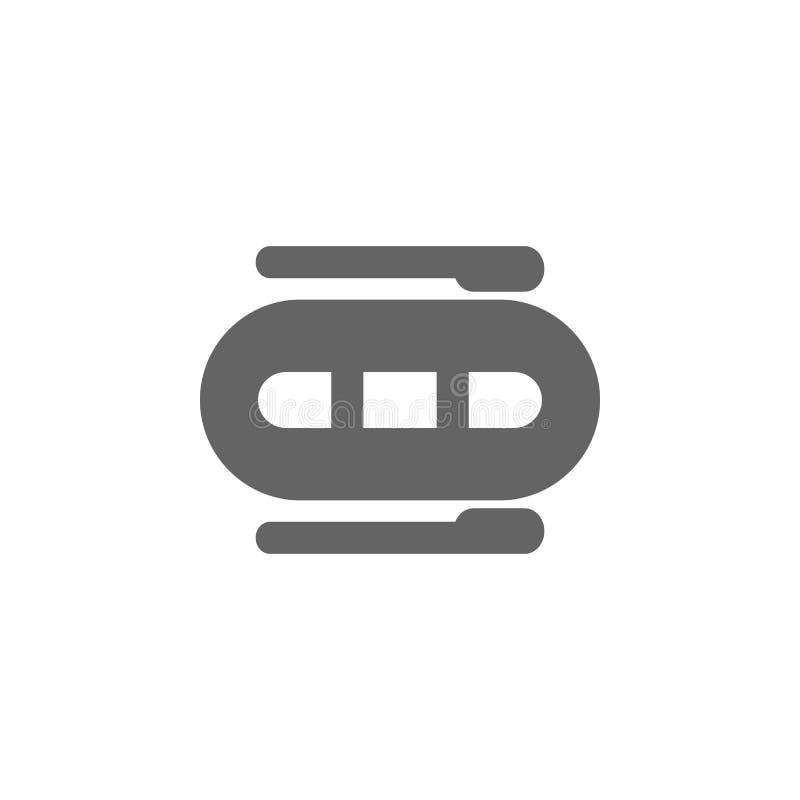 E Best?ndsdel av den enkla transportsymbolen H?gv?rdig kvalitets- symbol f?r grafisk design undertecknar symboler royaltyfri illustrationer