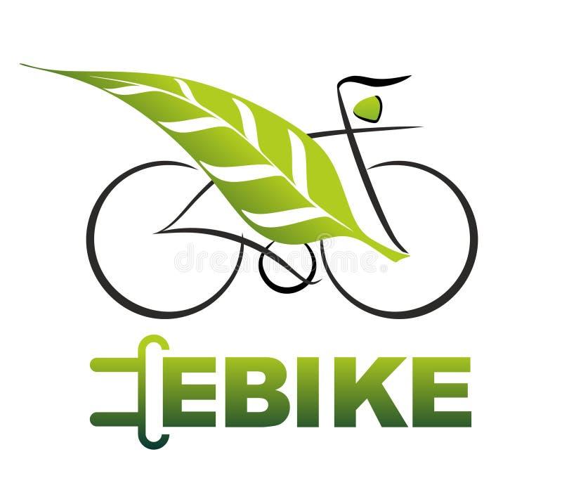 E-bicicleta ilustração stock