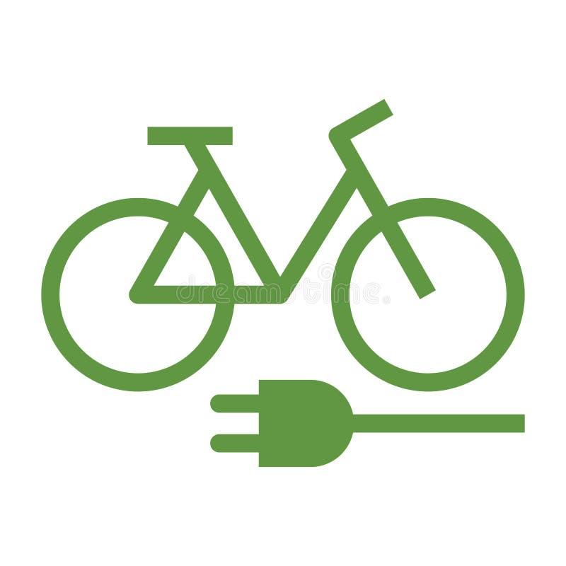 E-bicicleta, bicicleta de E, bicicleta elétrica, bicicleta elétrica ilustração stock