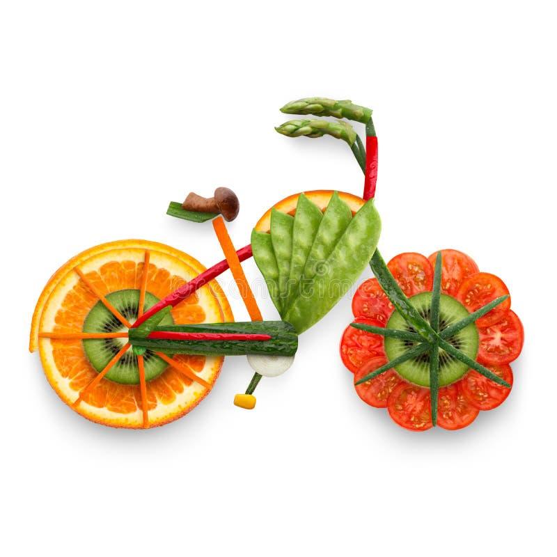 E-bicicleta frutado imagens de stock