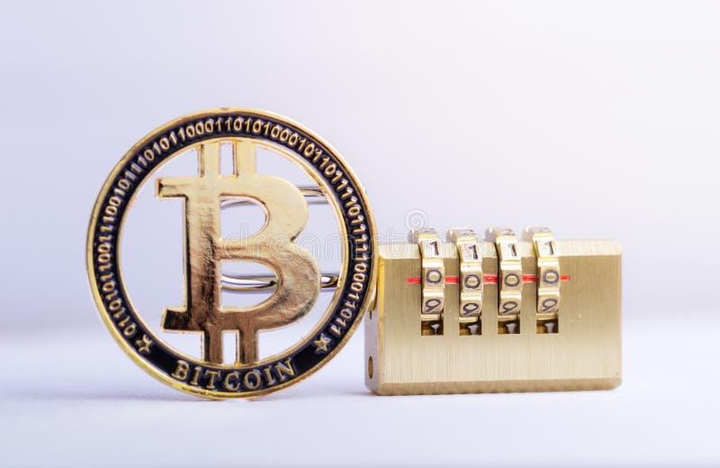 E Bitcoin-Sicherheit stockfoto