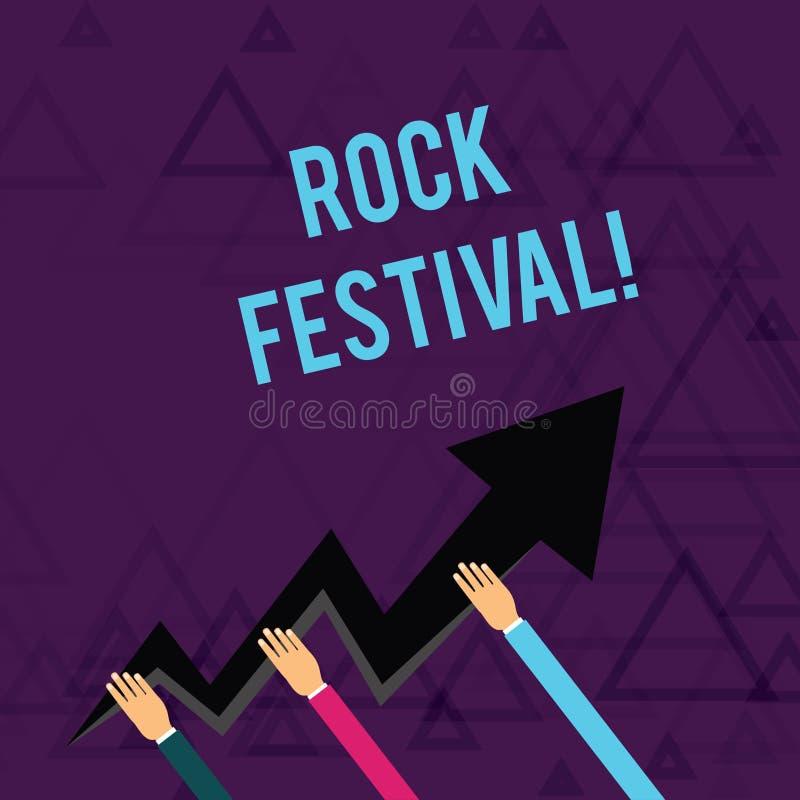 E Biznesowa fotografia pokazuje Largescale muzyki rockowej ci??kich metali koncertowego uwypukla gatunku royalty ilustracja