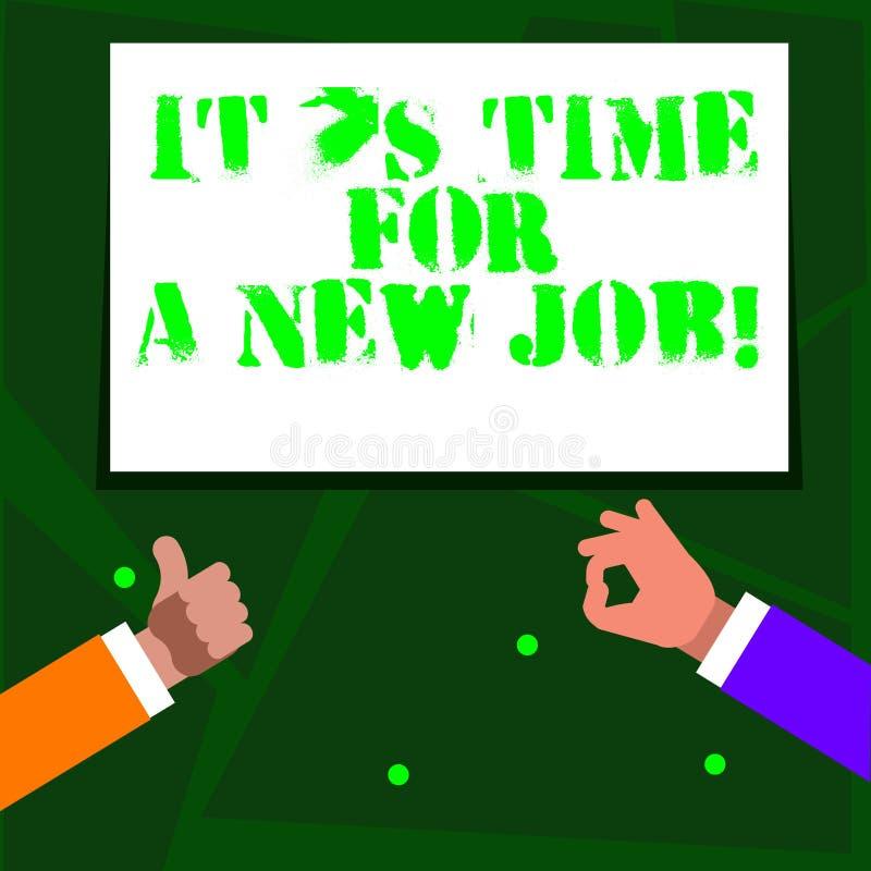E Biznesowy pojęcie dla płacić pozycji miarowego zatrudnienie Dwa biznesmena ilustracji
