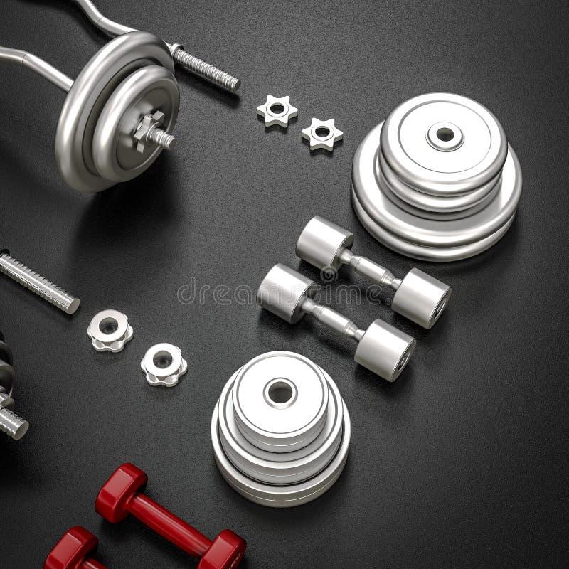 E bodybuilding stock de ilustración