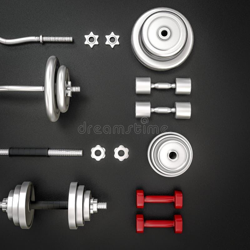 E bodybuilding ilustración del vector
