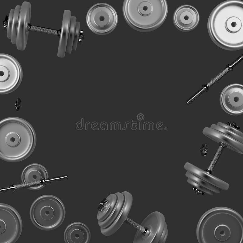 E Bodybuilding wyposażenie ilustracji