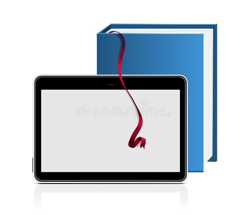 E-boek lezer vector illustratie