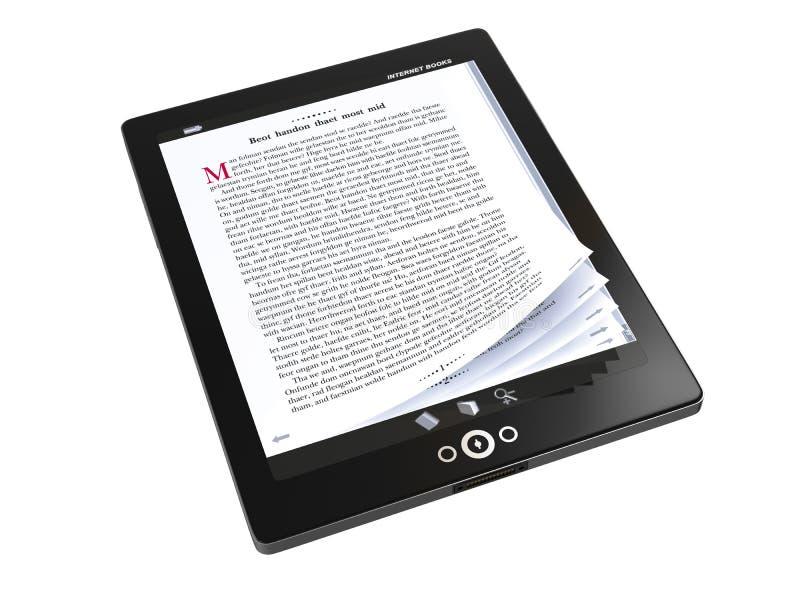 E-boeken op tabletPC stock illustratie