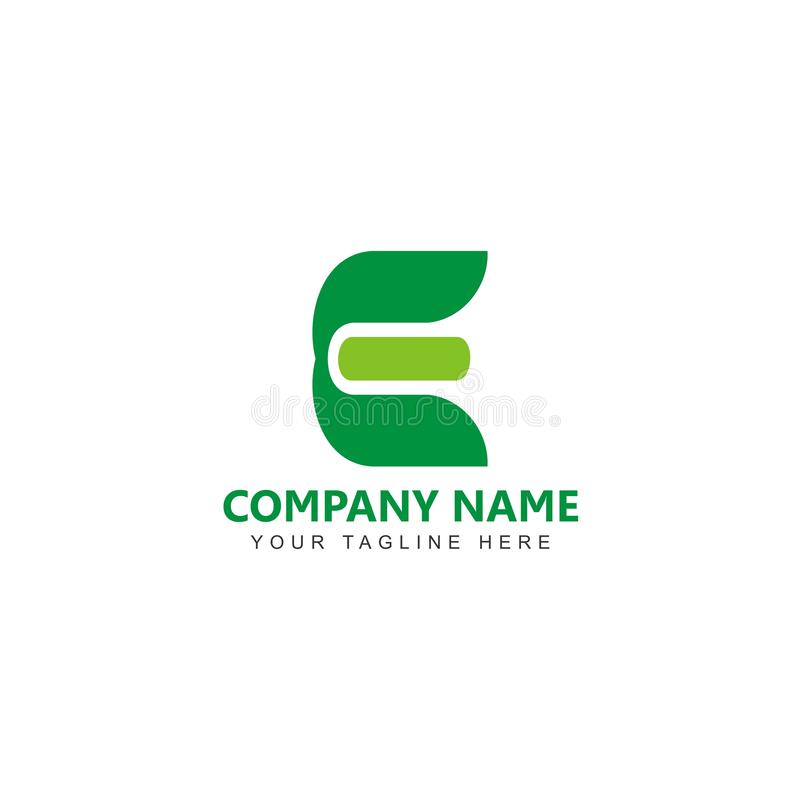 E-bokstav Logo Design Template royaltyfri illustrationer