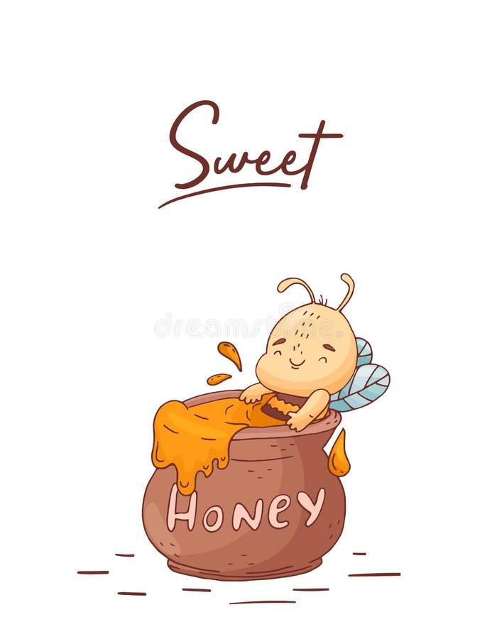 E bonbon à abeille r illustration libre de droits
