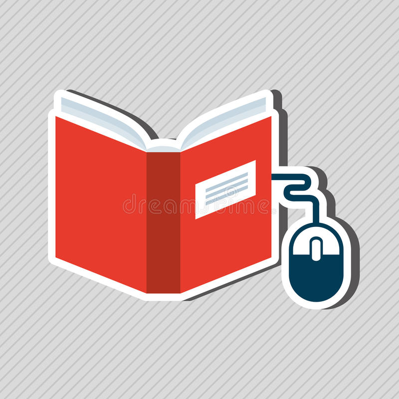 E-book concept design. Illustration eps10 graphic royalty free illustration
