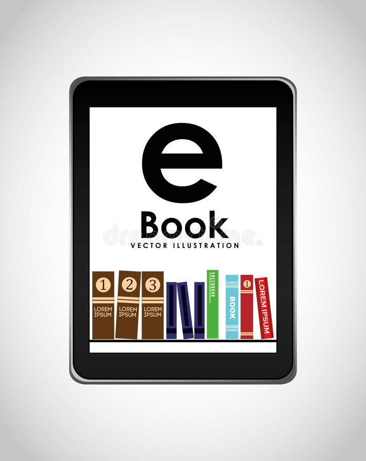 E-book concept design royalty free illustration